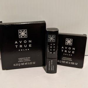 AVON BUNDLE True Color Satin Taupe Crush Cranberry